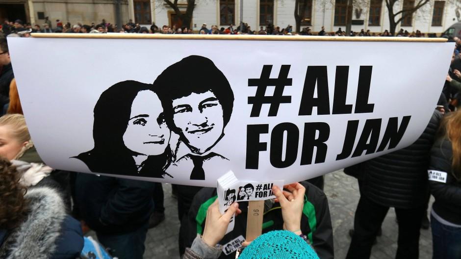 Der Großprotest für den Journalisten Ján Kuciak löste in der Slowakei einen politischen Wandel aus.