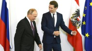 Wladimir Putin und Sebastian Kurz im Juni 2018 in Wien