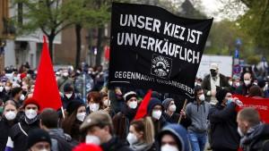 Mieter in Berlin gehen auf die Straße