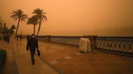 Sandige Sicht in Ägyptens Hauptstadt