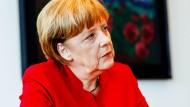 Bundeskanzlerin Angela Merkel im Gespräch mit der F.A.S.