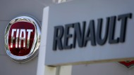 Die Logos von Fiat und Renault