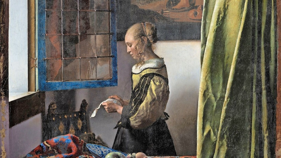 """Cupido hält wieder seine Hand über sie: Jan Vermeers """"Briefleserin am offenen Fenster"""" von 1657."""