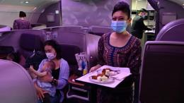 Pop-Up Restaurant im Flugzeug