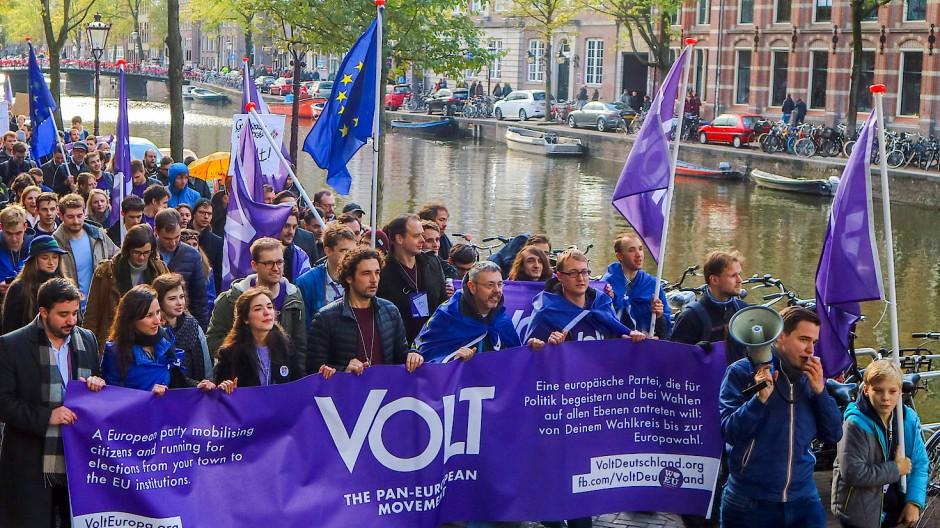Entschlossen in eine paneuropäische Zukunft: Mitglieder und Sympathisanten demonstrieren in Amsterdam (2018)