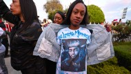 Trauer um Rapper Nipsey Hussle in Los Angeles.