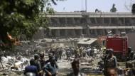 Umbauarbeiten: Das von der Explosion schwer getroffene Kanzleigebäude der Deutschen Botschaft war zum Zeitpunkt des Anschlags nicht in Benutzung.