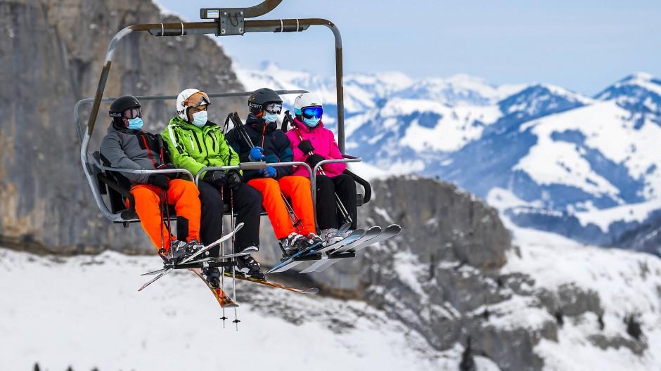 Geöffnet trotz Pandemie: Ein Skilift in Laysin im Kanton Waadt