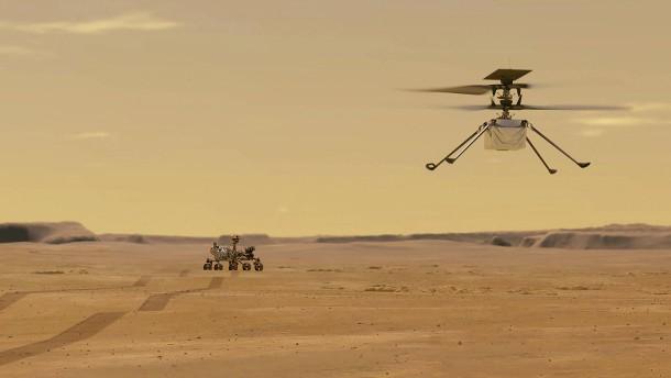 Historischer Helikopterflug auf dem Mars geplant