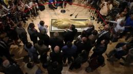 Gestohlener Sarkophag ist zurück in Ägypten