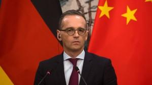 Maas gibt Hoffnung auf EU-China-Gipfel noch dieses Jahr nicht auf