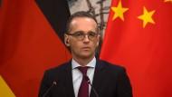 Heiko Maas bei einer Pressekonferenz in Peking im November 2018