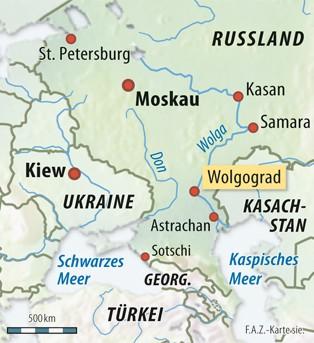wolgograd karte Bild zu: Terror in Russland: Wolgograd statt Sotschi?   Bild 1 von  wolgograd karte