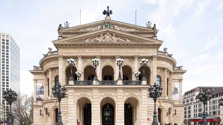 Die Konzertsäle der Alten Oper in Frankfurt bleiben vorerst leer – das Kulturleben geht trotzdem weiter.