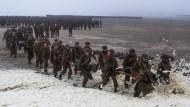 """Inszenierung eines nationalen Epos: Eine Szene aus Christopher Nolans """"Dunkirk""""."""