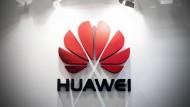 Das Logo des chinesischen Unternehmens Huawei