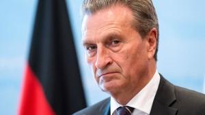 Oettinger: Die CSU beschädigt Deutschlands Handlungsfähigkeit