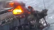 Angeblich Dutzende Tote bei Brand auf Ölplatform