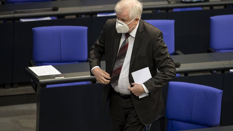 Bundesinnenminister Horst Seehofer (CSU) am 5. November im Bundestag