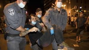 Festnahmen bei Anti-Netanjahu-Demonstration