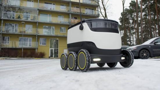 Essen auf Roboterrädern in Estland