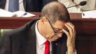 Tunesiens Regierungschef Habib Essid bei der Vertrauensabstimmung im Parlament