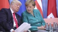 Bundeskanzlerin Angela Merkel und einer ihrer schwierigsten Gäste, der amerikanische Präsident Donald Trump