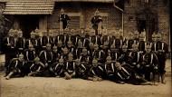 Soldaten des 12. Regiments in Frankfurt am Main.