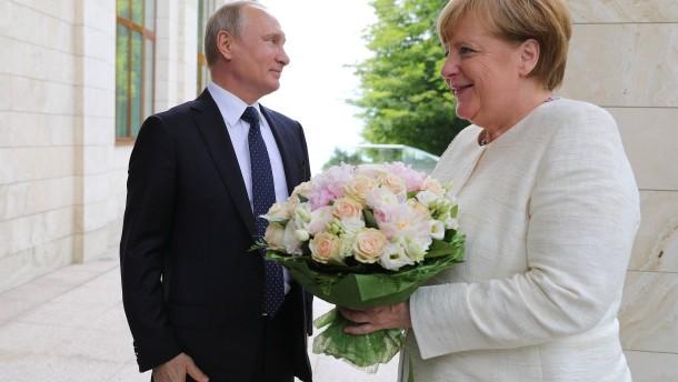 Blumen und russischer Smalltalk