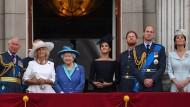 Happy Family? Die königliche Familie im Juli 2018 auf dem Balkon des Buckingham-Palasts