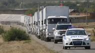 Russischer Hilfskonvoi rollt über die Grenze