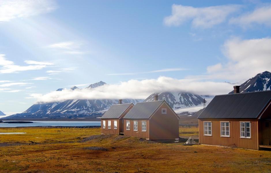 Einsam: Ny Alesund auf Spitzbergen.