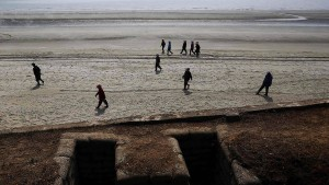 Nordkoreaner schwimmt nach Südkorea