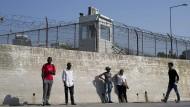 Migration und Mauern: Das Flüchtlingslager Moria auf der griechischen Insel Lesbos.