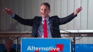 Im Bier-Dunst des deutschnationalen Taumels: Björn Höcke beim Politischen Aschermittwoch der AfD