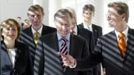 Die Gespräche zur Kandidatur Köhlers fanden in der Privatwohnung von Guido Westerwelle (r.) statt.