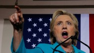 Hillary Clinton bei einem Wahlkampfauftritt in Florida
