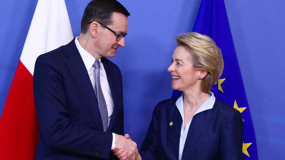 Schwierige Partner: Polens Ministerpräsident Mateusz Morawiecki und EU-Kommissionspräsidentin Ursula von der Leyen