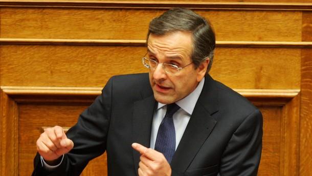 Samaras bekennt sich zu Sparprogramm