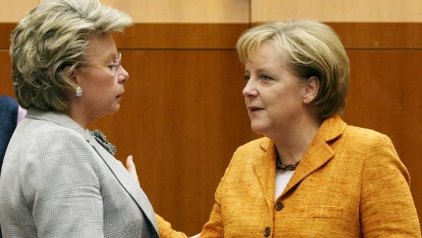 Reding und Merkel
