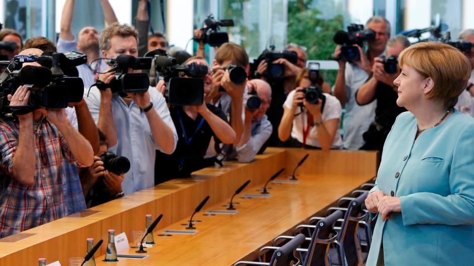 Im Zentrum des Interesses: Bundeskanzlerin Angela Merkel