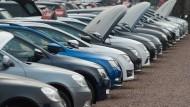 Ladenhüter: Diesel-Gebrauchtwagen bei einem Händler.