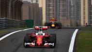 Kommt er ins Ziel? Sebastian Vettel in seinem Ferrari.