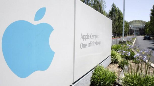 Wertvollstes unternehmen der welt blick auf den hauptsitz von apple
