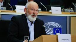 Timmermans will EU bis 2050 emissionsfrei machen