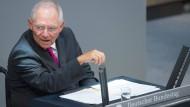 Schäuble pocht auf Konsolidierung
