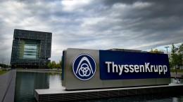 Thyssen-Krupp legt sich mit der EU-Kommission an