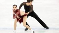 Tessa Virtue and Scott Moir aus Kanada ließen die Konkurrenz hinter sich.