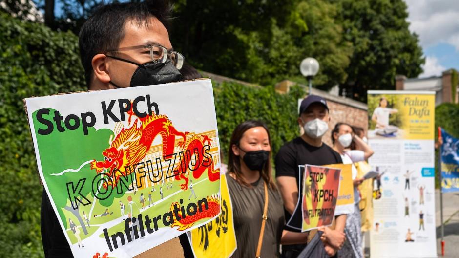 Kämpfen weiter: Demonstranten am 29. Juli 2021 in Ingolstadt