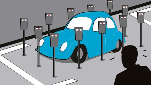 Illustration / Lohnt sich falsches Parken?